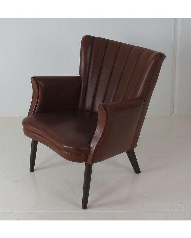 svend skipper teddy bear chair danish red. Black Bedroom Furniture Sets. Home Design Ideas