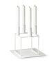bylassen Kubus 4 Candleholder – White with base