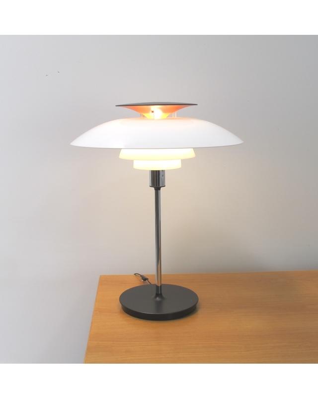 Vintage table lamp model ph80 louis poulsen danish red vintage table lamp model ph80 louis poulsen mozeypictures Choice Image