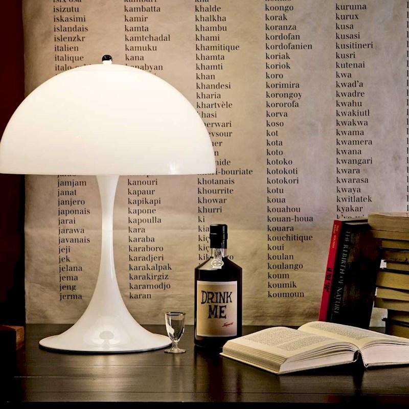panthella table lamp louis poulsen danish red. Black Bedroom Furniture Sets. Home Design Ideas