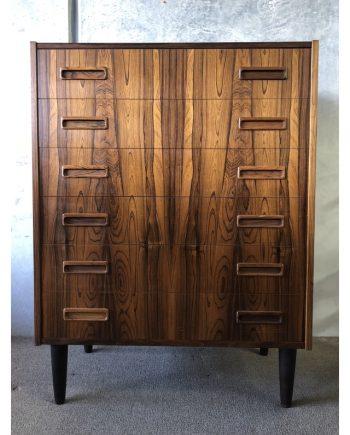 Danish Vintage Rosewood Tallboy Unit