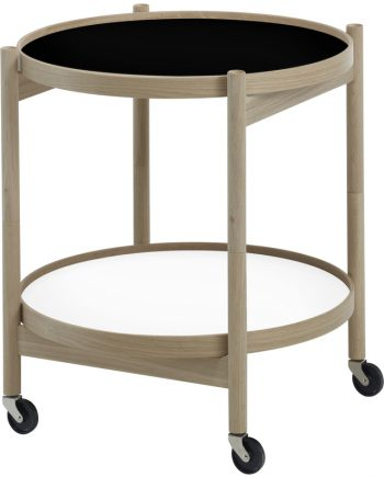 Hans Bølling Tray Table Oak - Black/White