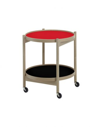 Hans Bølling Tray Table Oak - Red/Black