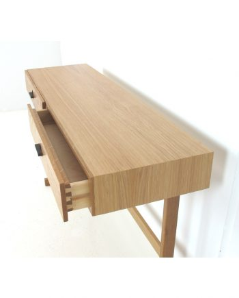 Danish Oak Console Table with drawers