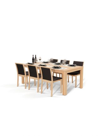 Skovby #24 extension dining table - oak