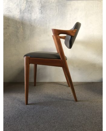 Kai Kristiansen | Model 42 Teak Dining Chair - Senso leather