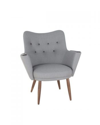 Mogens Hansen No.2 Armchair Grey Fabric