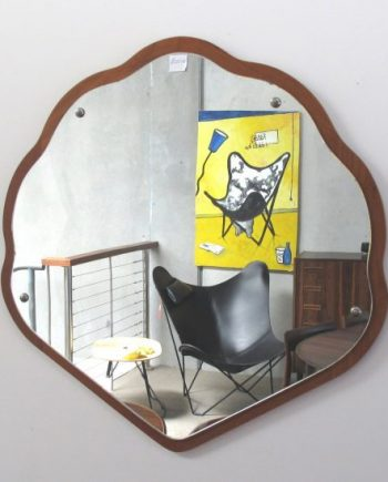 Vintage Danish teak mirror