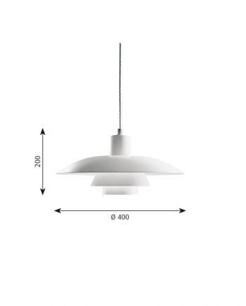PH 4/3 Pendant - White | Designed by Poul Henningsen | Louis Poulsen
