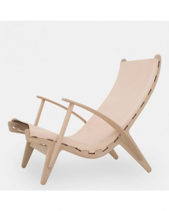 PV Lounge Chair by Poul Volther PV Lounge Chair in oak / saddle leather | Klassik Studio