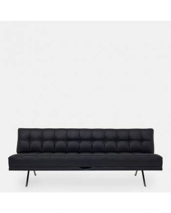 Constanze Daybed - black leather | Klassik Studio