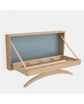 The Hanger coat hanger - soaped oak / blue - extended | Klassik Studio