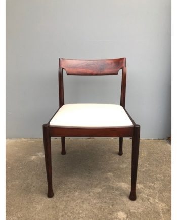 Vintage Midcentury Danish dining chair in Brazilian Rosewood | Set of 4