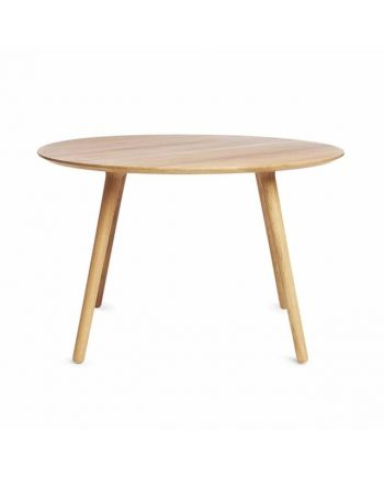 EAT Round fixed top 4-seater dining table in solid oak