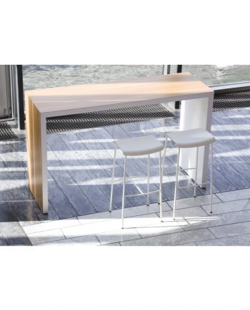 Pause Bar Stool by Magnus Olesen white at bar table