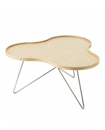 Swedese Flower Mono Table in Oak with Chrome