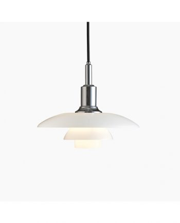 PH 3/2 Glass Pendant | High Lustre Chrome | Made by Louis Poulsen
