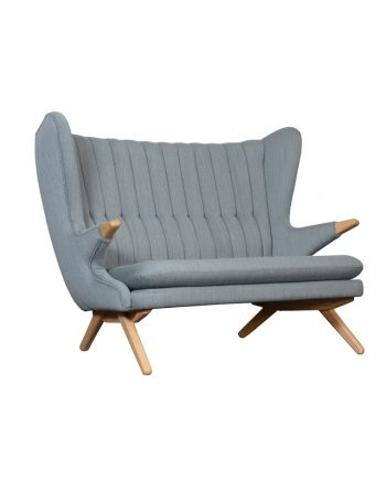 Skipper Papa Bear (Bamse) Sofa | Grey fabric | Oak Legs