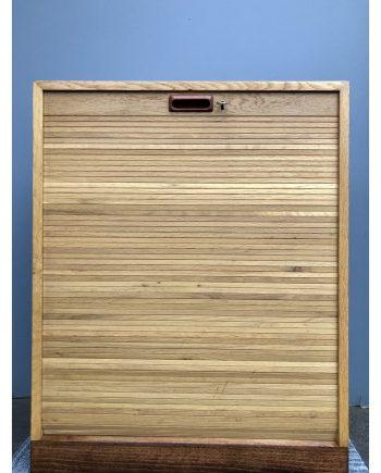 Danish Vintage Filing Cabinet   Oak   Tambour Door