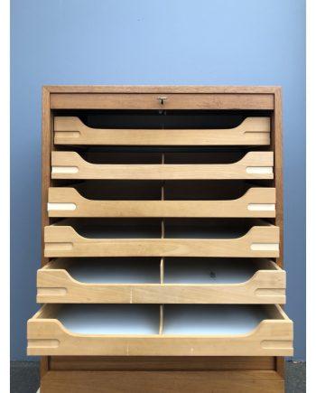 Danish Vintage Filing Cabinet   Teak   Drawers