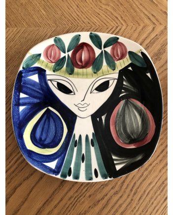 Vintage Norwegian Decorative Plate   Inger Waage design for Stavangerflint AS