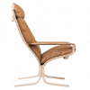 Siesta Classic high back lounge chair with arms | Oak and Tan leather | Design Ingmar Relling | Hjelle Norway
